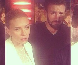 chris evans, Scarlett Johansson, and romanogers image