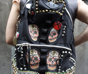 backpack and skull image