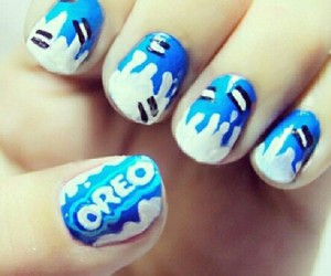 nails, oreo, and blue image