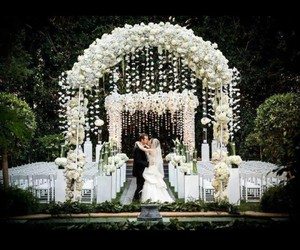 bride, decoration, and couple image