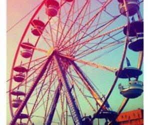 fair, ferris wheel, and ride image