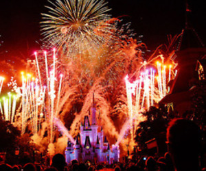 disneyland and fireworks image