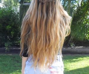 hair, long hair, and shorts image