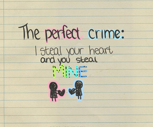 love, crime, and heart image