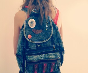 backpack, badge, and bag image