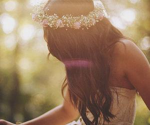 flowers, girl, and nice dress image