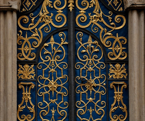 door gold and blue image  sc 1 st  We Heart It & 56 images about Enchanted Doors? on We Heart It | See more about ...