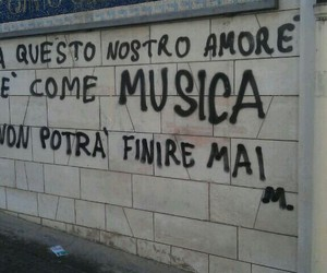 love, music, and wall image