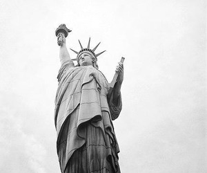 new york, statue of liberty, and usa image