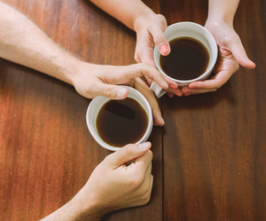 coffee, hands, and couple image
