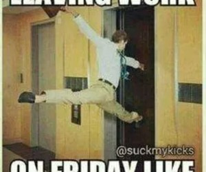 funny, friday, and work image