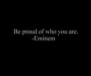 eminem, proud, and quote image