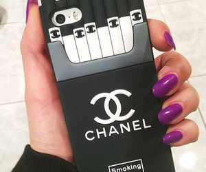 chanel, iphone, and nails image