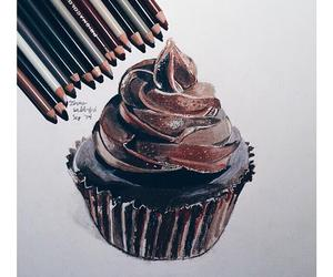 drawing, chocolate, and art image
