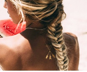 beach, braid, and live image