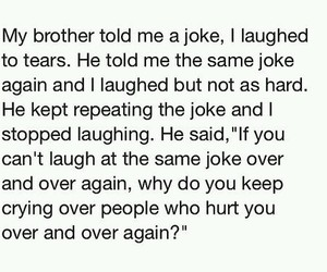 quote, hurt, and joke image