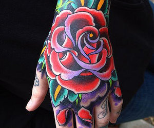 hand, oliver sykes, and tattoo image