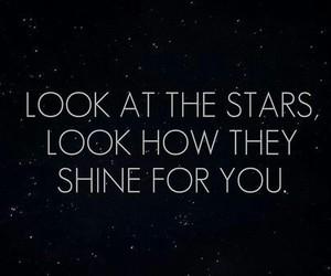 stars, shine, and coldplay image