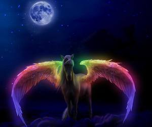 pegasus, horse, and rainbow image