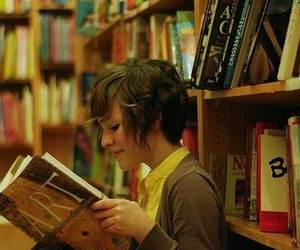 book, art, and girl image