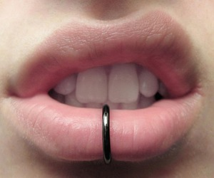 piercing, lips, and mouth image
