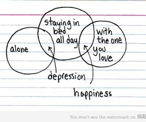 happiness, depression, and love image