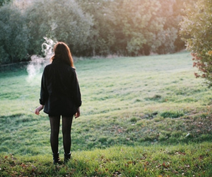 girl, smoke, and nature image