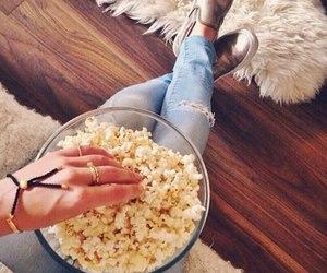 girl and popcorn image