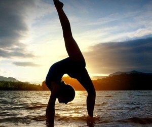 sunset, dance, and ballet image