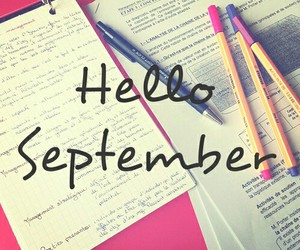 September, school, and hello image