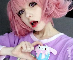 kawaii, pink, and pastel image