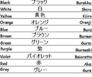 colours, learn japanese, and japan image