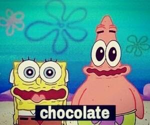 chocolate, spongebob, and patrick image