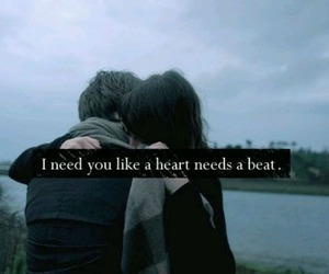 heart, couple, and need image