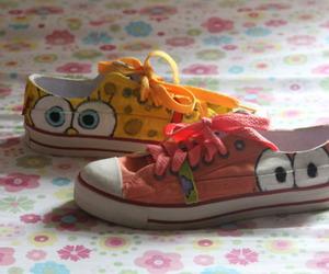 patrick, shoes, and spongebob image