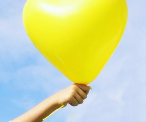 baloon, giallo, and cloud image