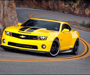 car, yellow, and chevrolet image