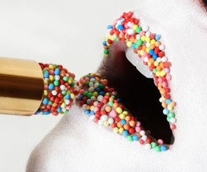 candy, lipstick, and colors image