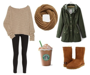 uggs, clothes, and leggings image