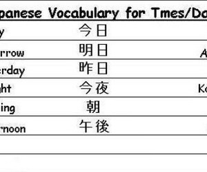 japanese, 主題單字, and learn image