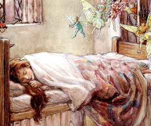 angels, art, and bed image