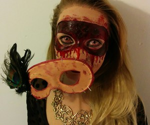 blood, costume, and Halloween image