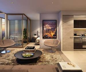architecture, beautiful, and living room image