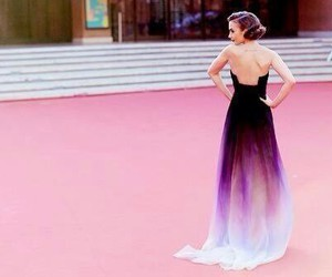 lily collins, dress, and purple image