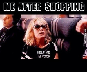 shopping, funny, and poor image