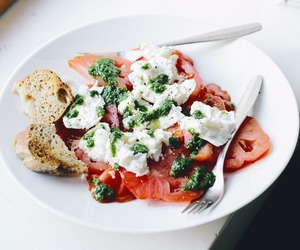 food, healthy, and tomato image