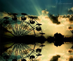 photography, clouds, and ferris wheel image