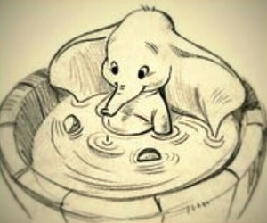 adorable, drawing, and dumbo image