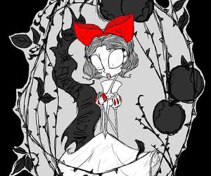 snow white, disney, and tim burton image