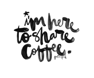 awesome, calligraphy, and coffee image